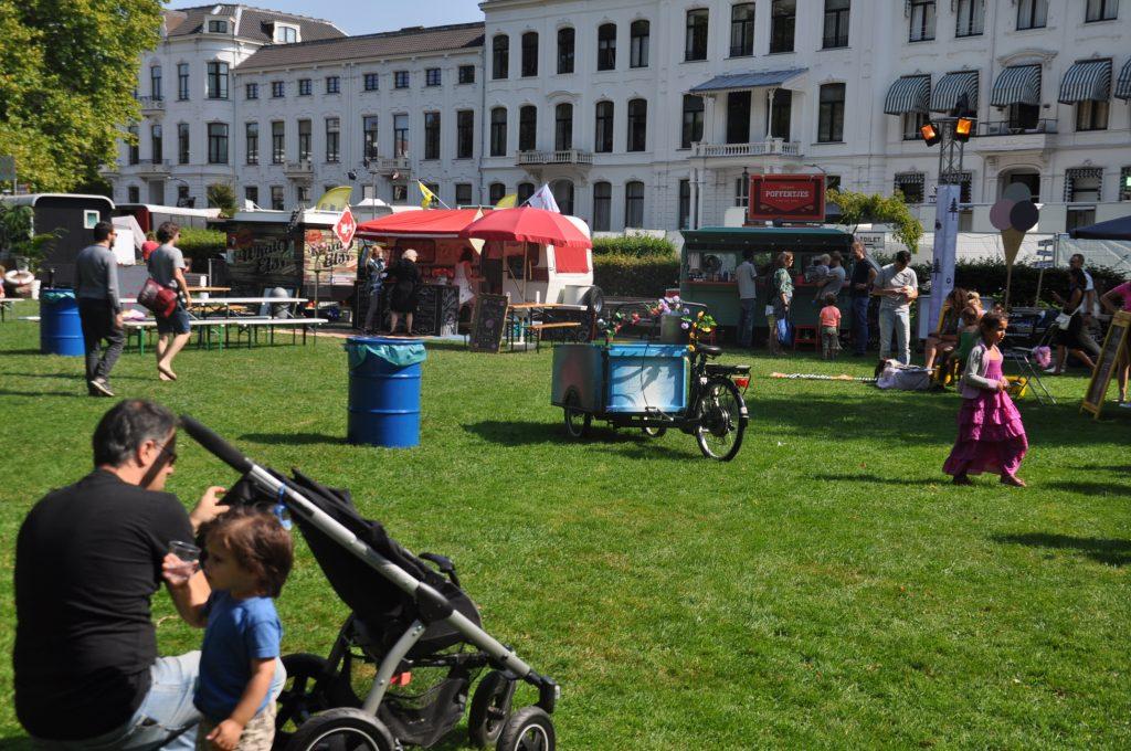 Proefpark Haarlem is ruim opgezet zodat iedereen heerlijk kan relaxen en genieten.