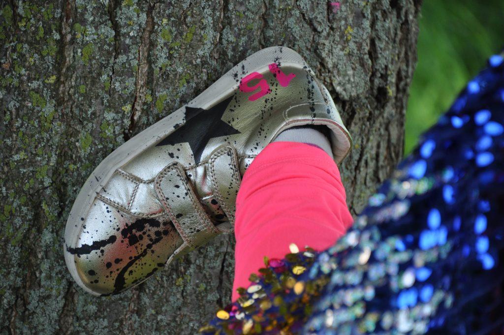 kidz art feestoutfit naturino gouden schoen