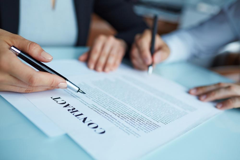contract ondertekenen