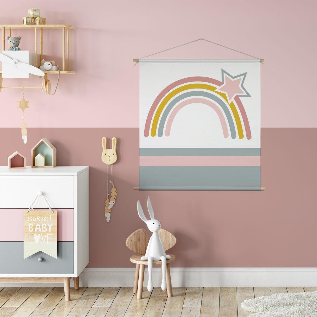 textielposter regenboog