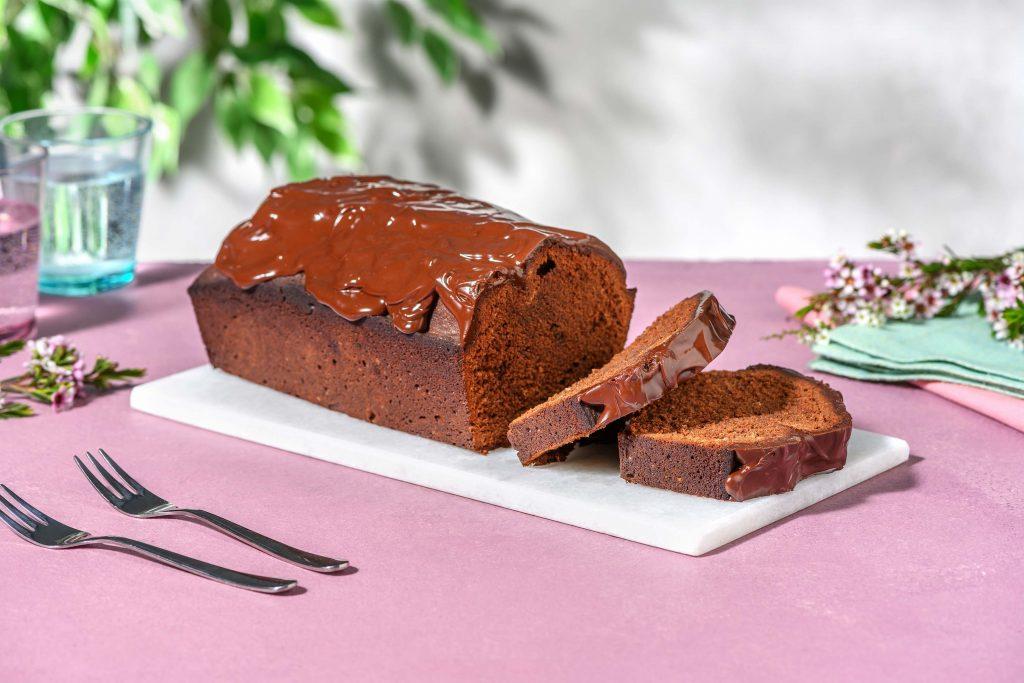 chocoladecake met ganache