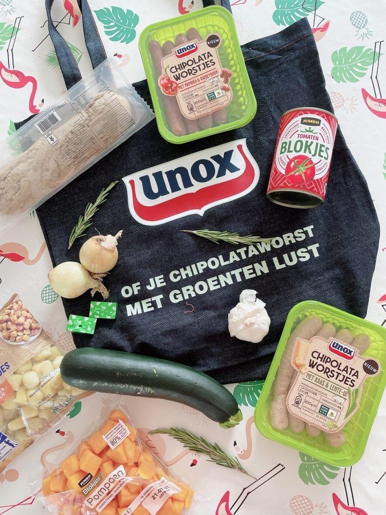 recept ratatouille chipolataworstjes
