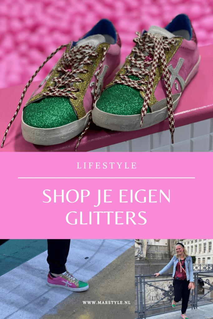 premiata glitterschoenen